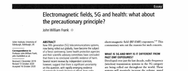 Elektromagnetische Felder 5G und Gesundheit